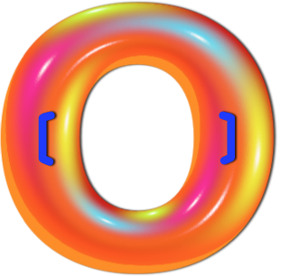 Multi colored tube